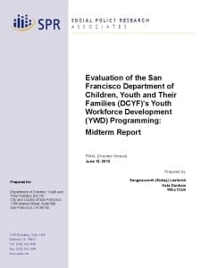 DCYF YWD Mid-Project Report Cover