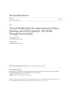 Toward Health Equity Report Cover