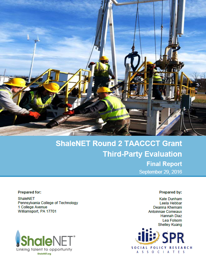 Cover of ShaleNET Final Report