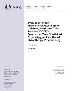 DCYF Teen Mid-Project Report Cover