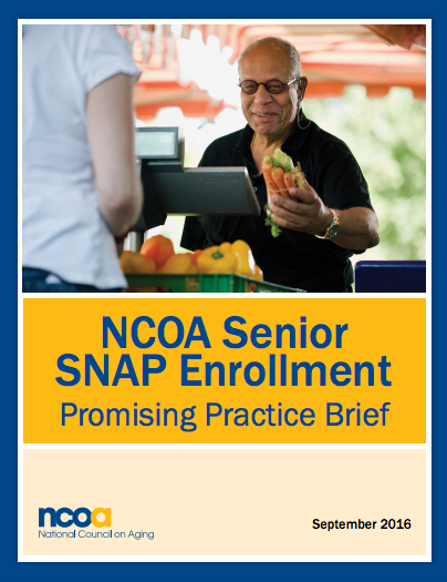 NCOA Senior SNAP Enrollment: Promising Practice BriefReport Cover