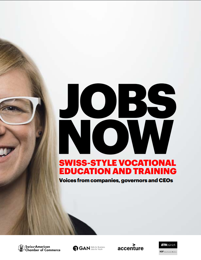 Cover of Jobs Now: Swiss-Style Vocational Education and Training Slides