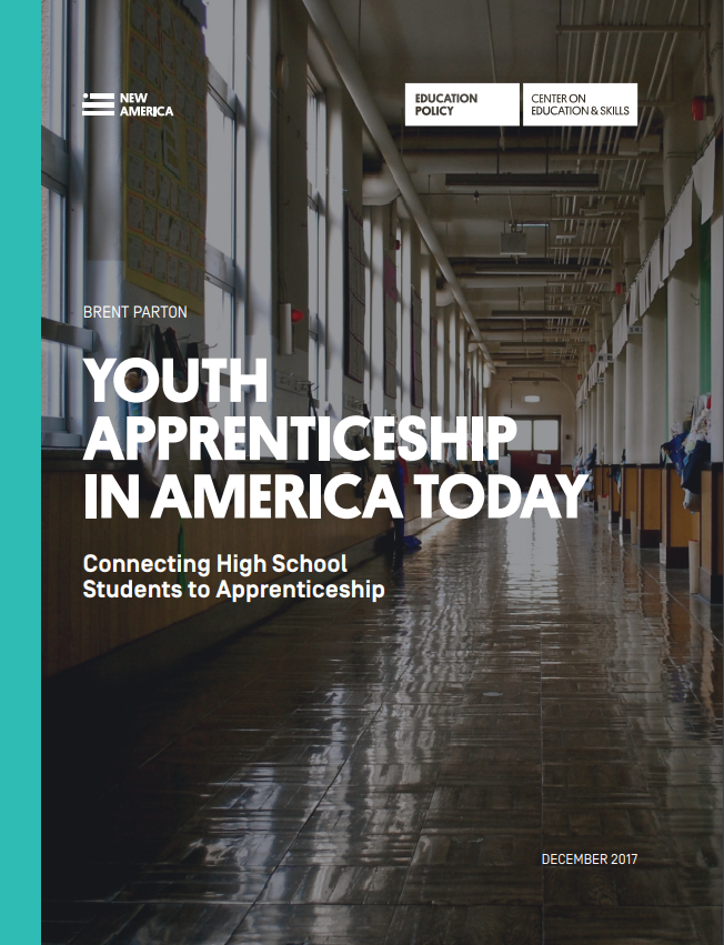 Cover of Youth Apprenticeship in America Today Report