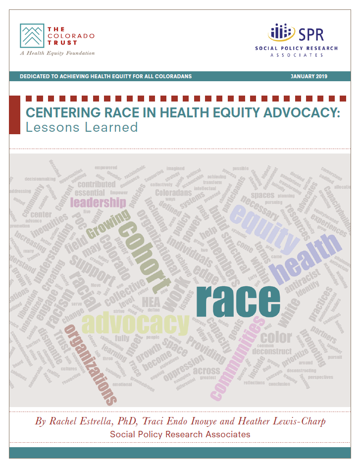 Cover of Centering Race in Health Equity