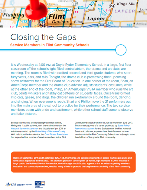 Cover of Closing the Gaps: Service Members in Flint Community Schools
