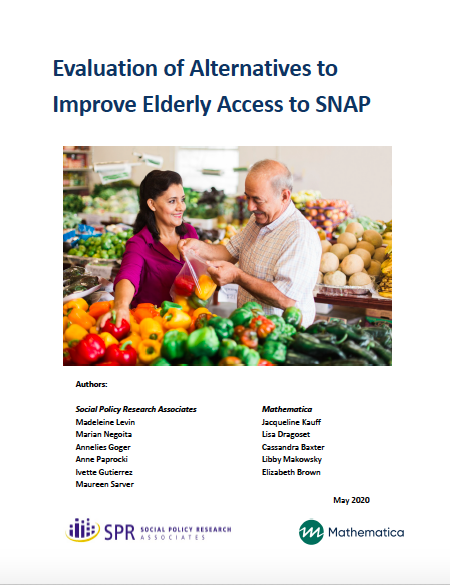 Cover of Elder SNAP report