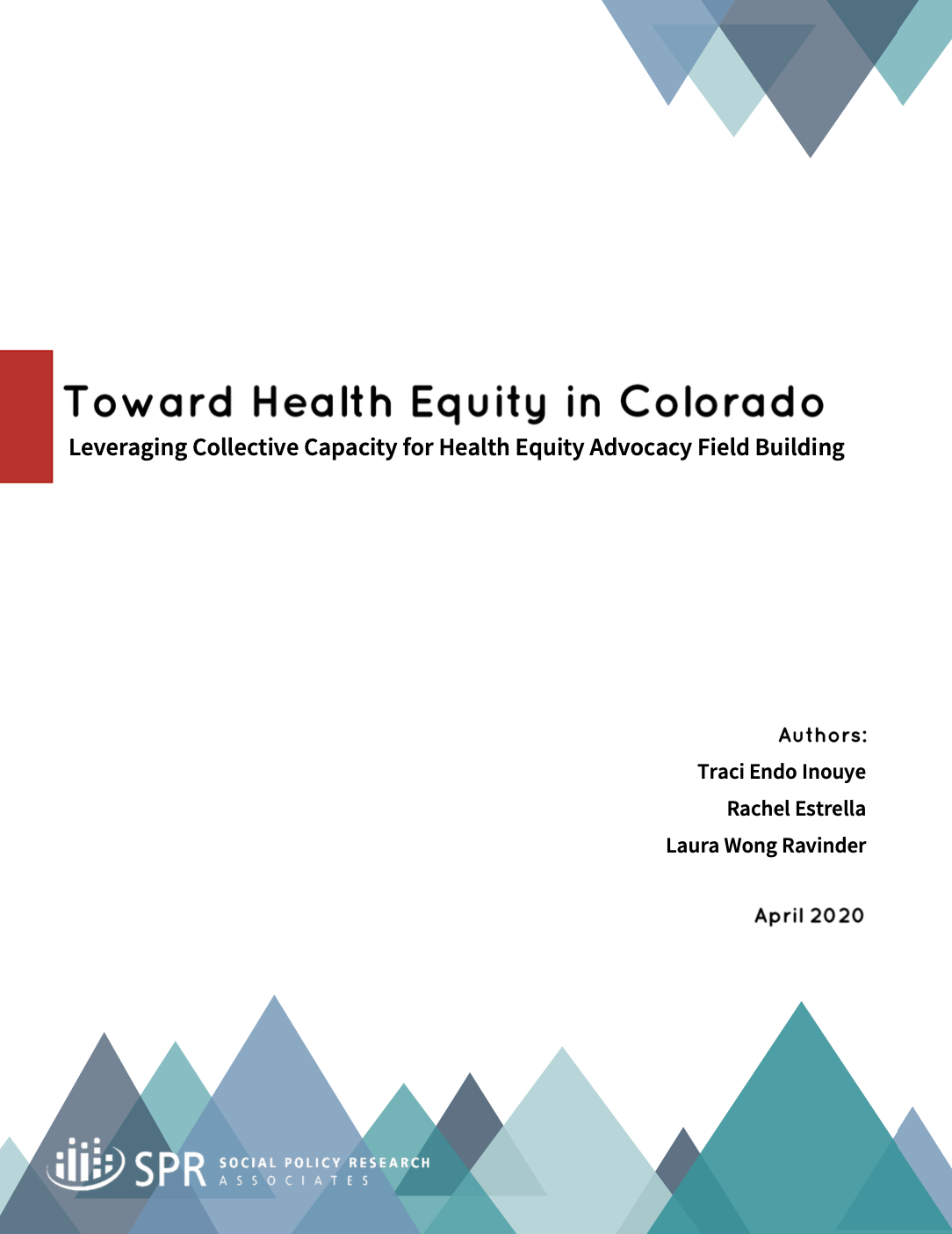 Cover of Phase 3 – Leveraging Collective Capacity for Health Equity Advocacy Field Building