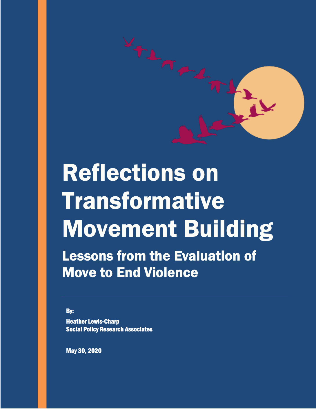 Cover of Reflections on Transformative Movement Building report